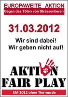 Poster Demo 31.03.2012 / © Aktion Fair Play